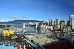 Остров Ванкувер Канада False Creek и Granville Стоковые Изображения