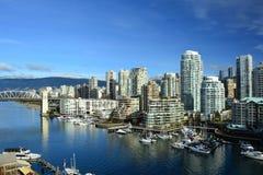 Остров Ванкувер Канада False Creek и Granville Стоковое Фото