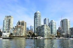 Остров Ванкувер Канада False Creek и Granville Стоковое Изображение
