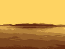 Остров вектора в море иллюстрация вектора