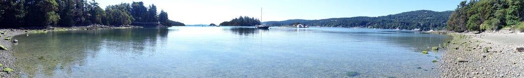 Остров весны соли панорамы Стоковая Фотография