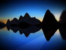 Остров волны Стоковые Фотографии RF