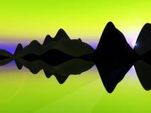 Остров волны   Стоковое Изображение