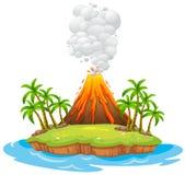 Остров вулкана Стоковое Изображение RF