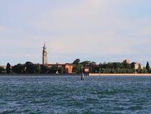Остров вызвал degli Armeni Сан Lazzaro в венецианской лагуне внутри Стоковое Фото