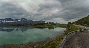 Остров в внутреннем фьорде Стоковая Фотография RF