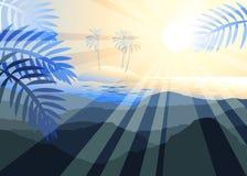 Остров в море Стоковое Изображение