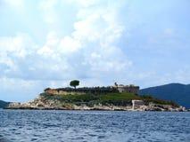 Остров в море Стоковое фото RF