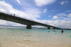 Остров в Окинаве, Япония Kouri Стоковое фото RF