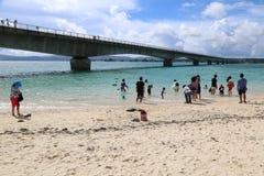 Остров в Окинаве, Япония Kouri Стоковые Фотографии RF