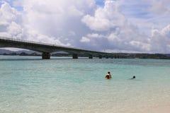 Остров в Окинаве, Япония Kouri Стоковая Фотография