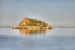 Остров в солнце Стоковая Фотография