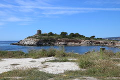 Остров в солнце стоковые фото