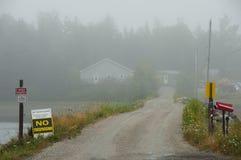 Остров в тумане - Новая Шотландия - Канада дуба Стоковые Изображения
