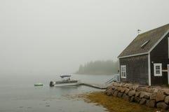 Остров в тумане - Новая Шотландия - Канада дуба Стоковая Фотография