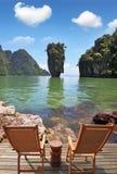 Остров в форме зеленой вазы Стоковое Фото