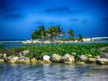 Остров в HDR Стоковое фото RF