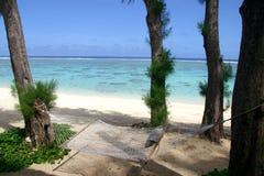 остров гамака тропический Стоковое фото RF