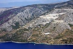 остров горного склона brac стоковая фотография