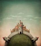 остров города иллюстрация вектора