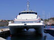 остров грека катамарана Стоковая Фотография