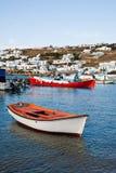 остров Греции шлюпок Стоковые Фотографии RF