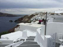 Остров Греция Santorini романтичный Стоковое Изображение