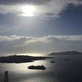 Остров Греция Santorini романтичный Стоковые Изображения