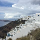 Остров Греция Santorini романтичный Стоковые Фотографии RF