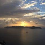 Остров Греция Santorini романтичный Стоковое Изображение RF