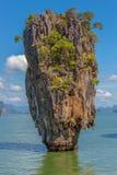 Остров Жамес Бонд известняка Стоковые Фото