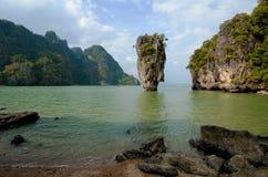 Остров Жамес Бонд, Phang Nga, Таиланд Стоковые Изображения RF