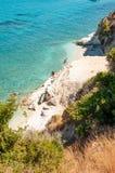 Остров Закинфа, Греция Пляж Xigia стоковые изображения rf