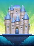 остров замока сказовый Стоковая Фотография