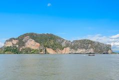 Остров известняка в национальном парке залива Phang Nga, Таиланде Стоковое Изображение