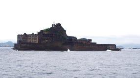 Остров линкора Gunkanjima в Нагасаки Японии Стоковое Изображение RF