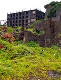 Остров линкора Gunkanjima в Нагасаки Японии Стоковые Изображения