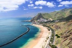 Остров Испания Тенерифе пляжа Las Teresitas стоковое изображение