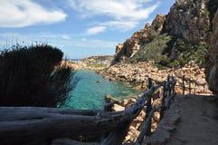 Остров Италия Paradiso Сардинии Косты пляжа Li Cossi Стоковое фото RF
