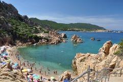 Остров Италия Paradiso Сардинии Косты пляжа Li Cossi Стоковая Фотография RF