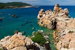 Остров Италия Paradiso Сардинии Косты пляжа Li Cossi Стоковые Фотографии RF