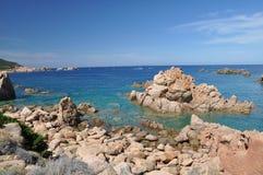 Остров Италия Paradiso Сардинии Косты пляжа Li Cossi Стоковые Фото