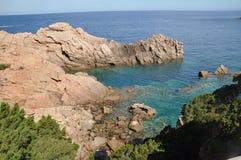 Остров Италия Paradiso Сардинии Косты пляжа Li Cossi Стоковая Фотография