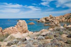 Остров Италия Paradiso Сардинии Косты пляжа Li Cossi Стоковое Изображение