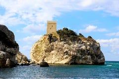 Остров и замок Стоковая Фотография RF