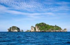 Остров и море стоковое фото rf