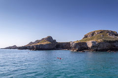 Остров и море Стоковые Изображения RF