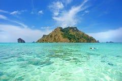 Остров и море Стоковые Фото