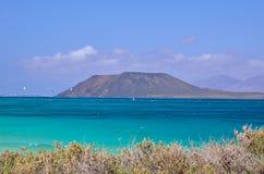 Остров и океан Стоковая Фотография