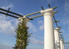 Остров Капри - белые колоннады Стоковое фото RF